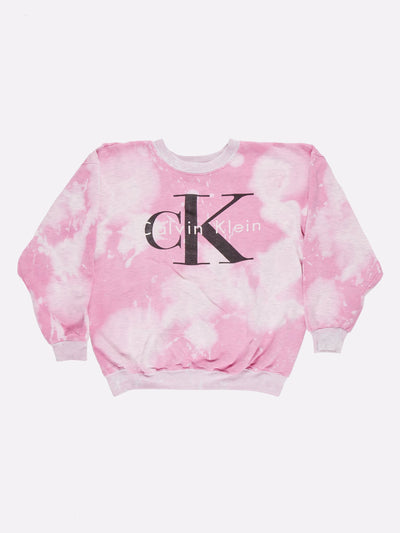 Calvin Klein Tie-Dye Sweatshirt Pink/Grey/Black Size Medium