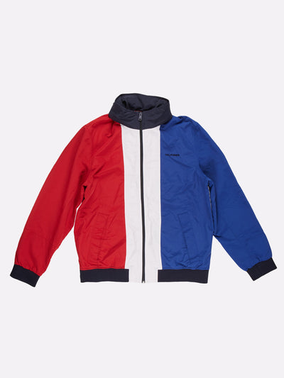 Tommy Hilfiger Nylon Jacket Blue/White/Red Size Large