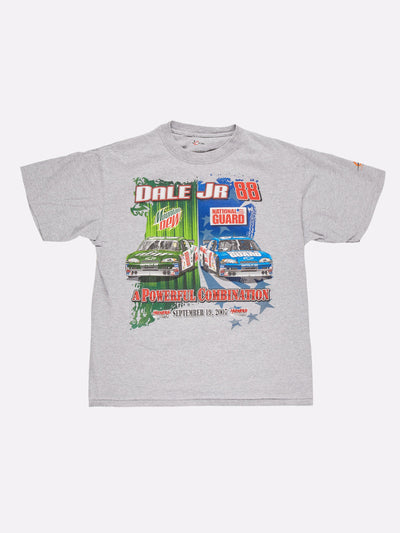Nascar Dale Jr 88 T-Shirt Grey/Green/Blue Size Large