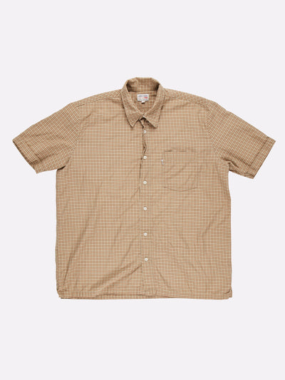 Levi's Short Sleeve Check Shirt Brown/Orange/White Size Large