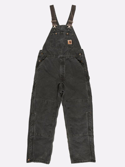 Carhartt Padded Dungarees Green Size 36x32