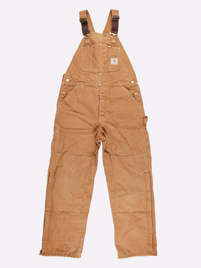 Carhartt Padded Dungarees Beige Size 36x32