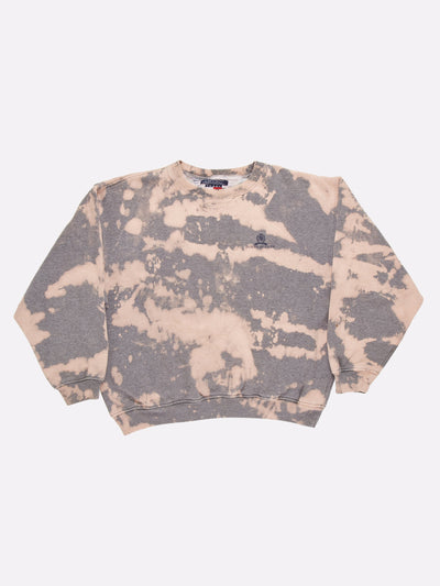 Tommy Hilfiger Bleach Effect Sweatshirt Grey/Pink Size XL