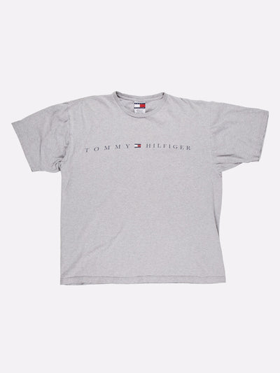 Tommy Hilfiger T-Shirt Grey/Navy/Red Size Large