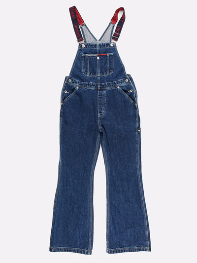 Tommy Hilfiger Denim Bootcut Dungarees Blue Size Medium