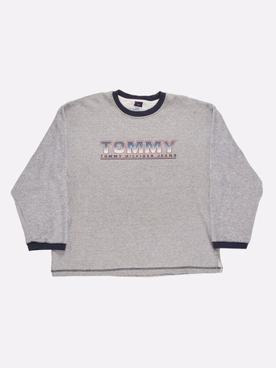 Tommy Jeans Sweatshirt Grey/Navy/Red Size XL