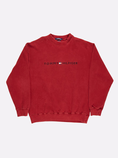 Tommy Hilfiger Sweatshirt Red/Navy/White Size Large