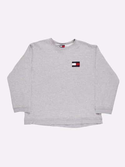 Tommy Hilfiger Sweatshirt Grey/Navy/Red Size Large
