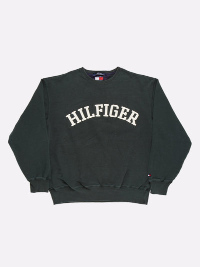 Tommy Hilfiger Sweatshirt Green/White Size XL