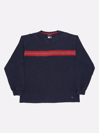 Tommy Hilfiger Sweatshirt Navy/Red Size 2XL