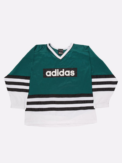 Adidas Sports Jersey Green/White/Black Size XXL