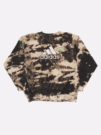 Adidas Bleach Effect Sweatshirt Black/Grey Size Large