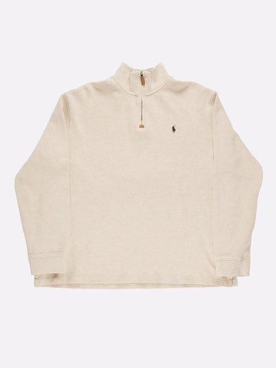 Ralph Lauren 1/4 Zip Knit Cream Size XXL