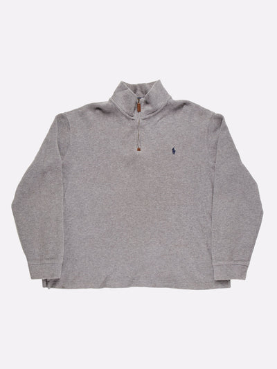 Ralph Lauren 1/4 Zip Knit Grey Size XL