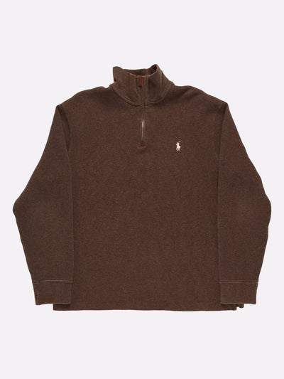 Ralph Lauren 1/4 Knit Brown Size Large