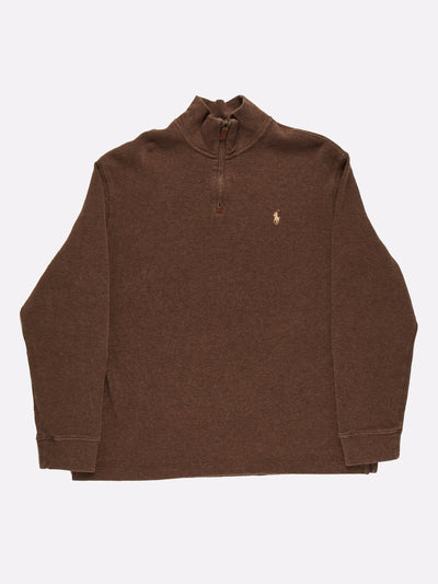 Ralph Lauren 1/4 Knit Brown Size XL