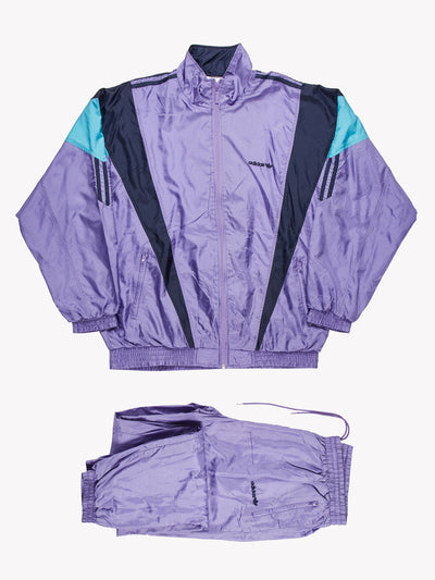 Adidas Shell Track Suit Lilac/Blue Size XL