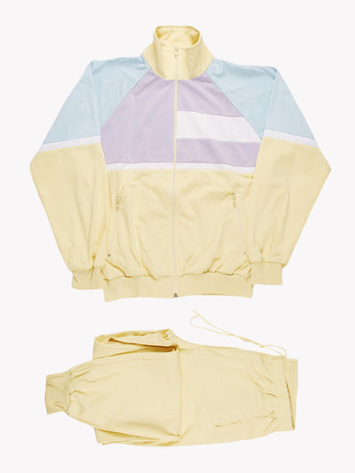 Adidas Full Tracksuit Yellow/Lilac/Blue Size XL