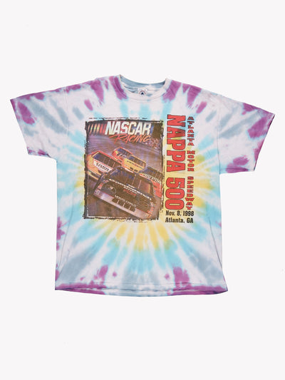 Nascar Tie Dye T-Shirt Blue/Purple Size XL