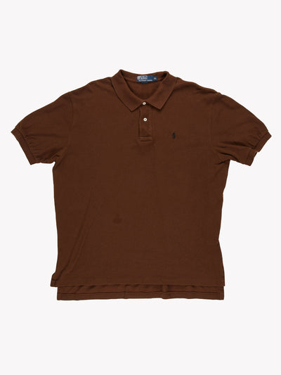 Ralph Lauren Polo Shirt Brown Size XL
