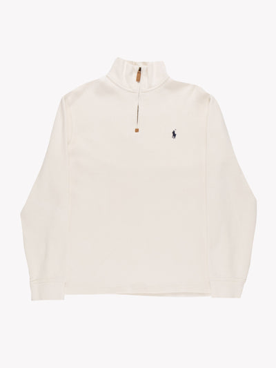 Ralph Lauren 1/4 Zip Knit Cream Size Medium
