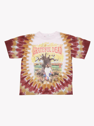 Grateful Dead Tie Dye T-Shirt White/Red/Yellow Size Medium