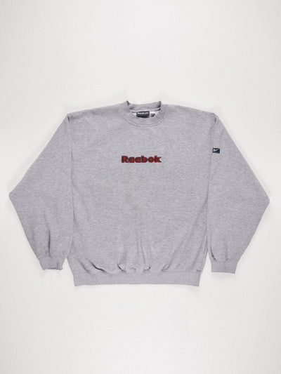 Reebok Sweatshirt Grey/Orange Size XL