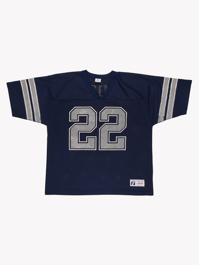 Dallas Cowboys NFL Smith 22 Jersey Blue/Grey Size Large