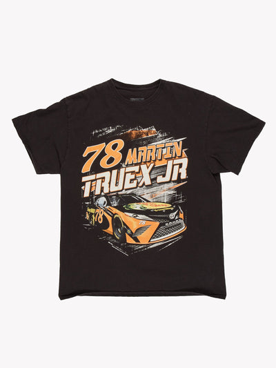 Nascar Martin Truex Jr T-Shirt Black/Orange/White Size Large