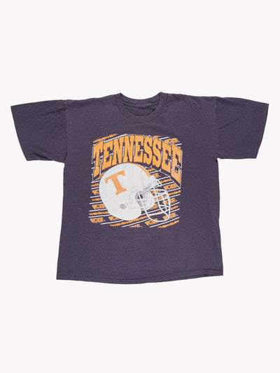 Vintage Tennessee Football T-Shirt Blue/White/Orange Size XL