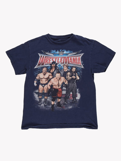 WWE Wrestlemania 32 Wrestling T-Shirt Navy Blue Size Small