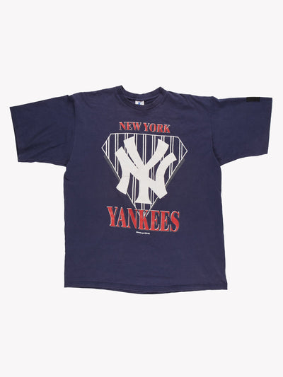 New York Yankees T-Shirt Navy/White/Red Size XL