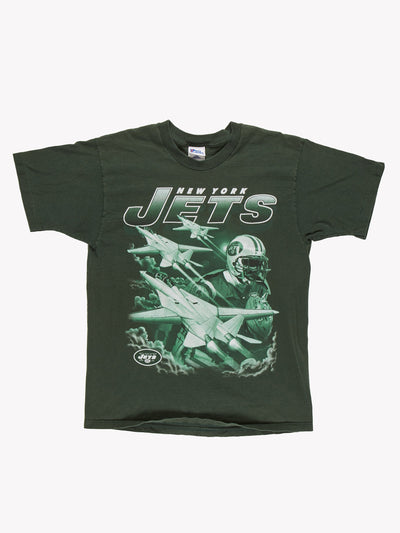 New York Jets T-Shirt Green Size Large