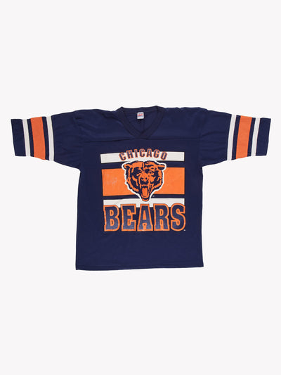 VIntage Chicago Bears NFL T-Shirt Navy/Orange Size Large