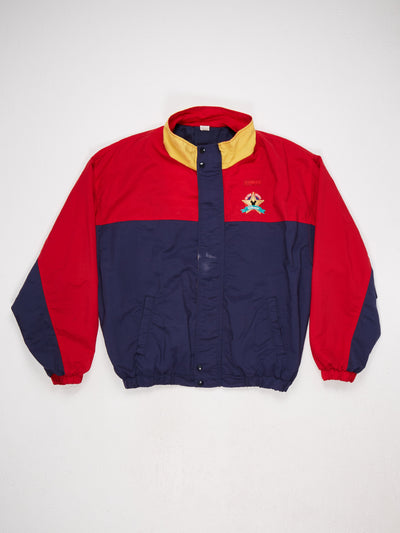 Disney 90's Embroidered Badge Nylon Jacket Red/Blue/Yellow Size XL