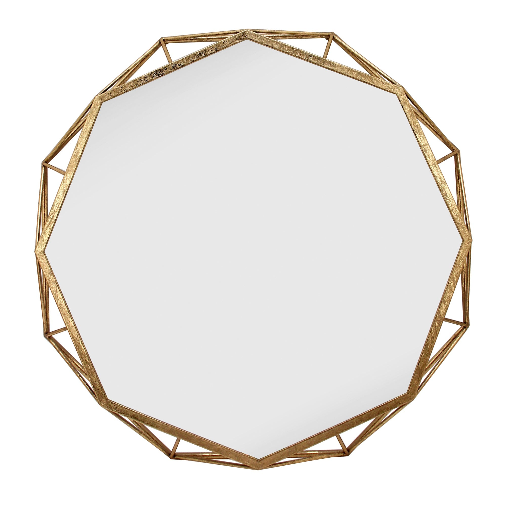 Gold Octagon Mirror 28""