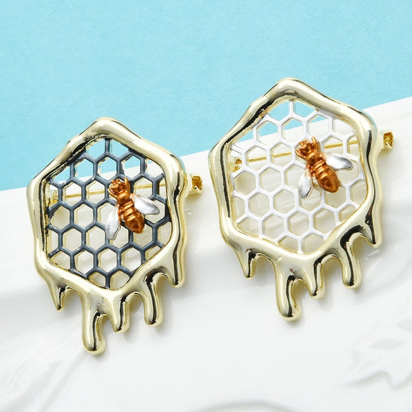 Dripping Honeycomb With Bee Pin
