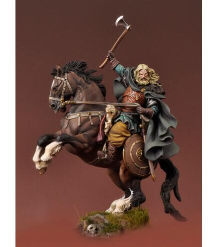 1/32 54mm Mounted Viking Warrior Resin Model Miniature Kit unassembled and Unpainted