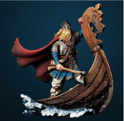 1/32 54mm Viking longboat soldier Resin Model Miniature Kit unassembled and Unpainted
