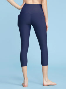 QB3004 Women's Yoga Pants Body Contouring High Waisted Athletic Performance Leggings with Pocket