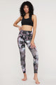 QB3015 Women's Camo Floral Print Leggings with Inner Pocket/Side Pocket