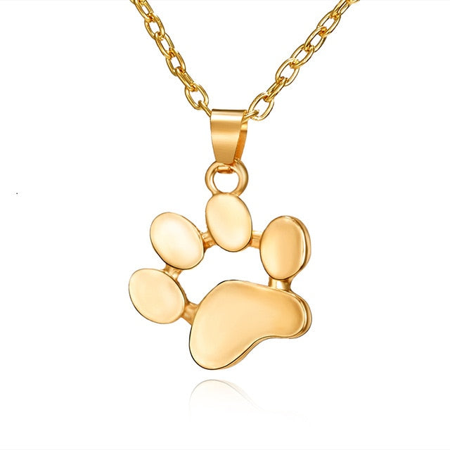 Lovely Animal Paw Footprint Necklace