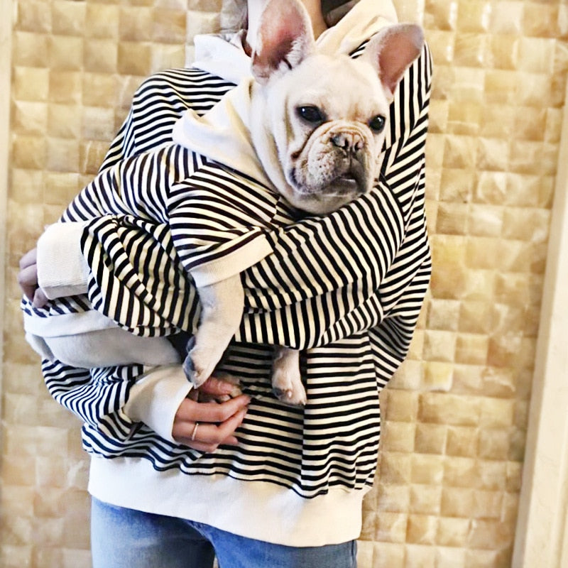 Striped Hoodie Pet/Owner Matching Outfit