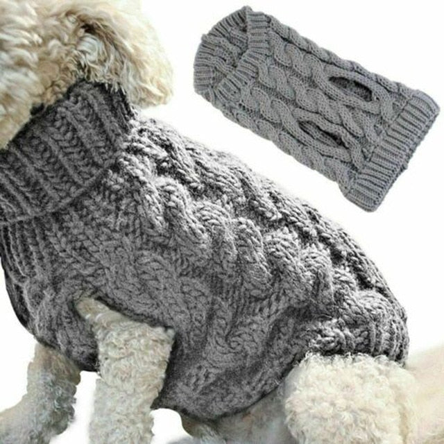 Warm Dog Cat Sweater Clothing Winter Turtleneck Knitted Pet Cat Puppy Clothes Costume For Small Dogs Cats Chihuahua Outfit Vest
