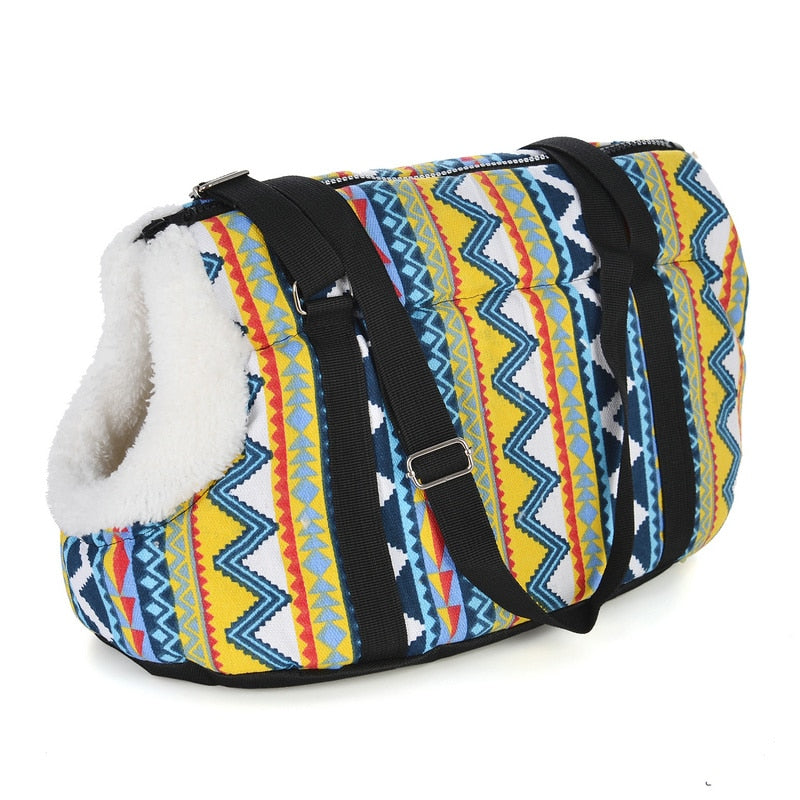 Hipster Pet Carrier Travel Bag Pet