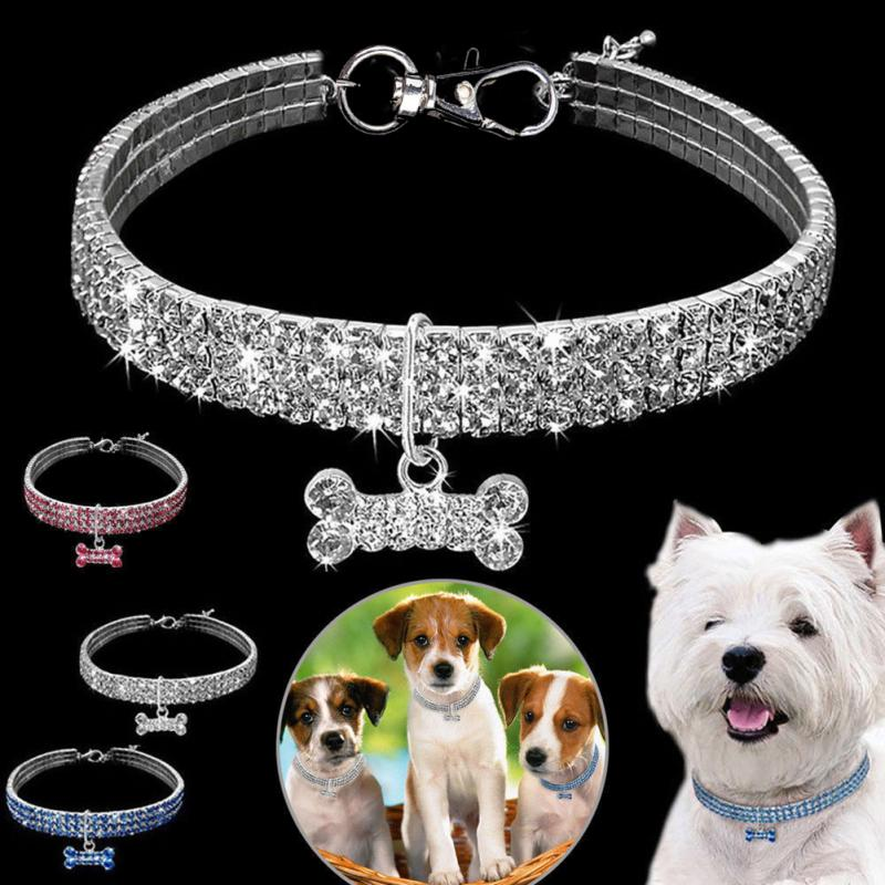 Rhinestone Pet Necklaces