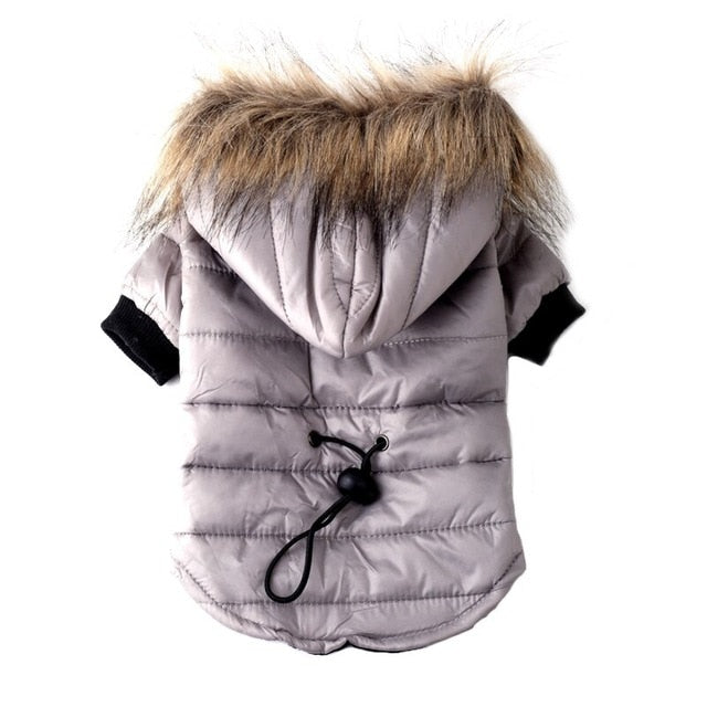 Pet Winter Coat with Soft Fur Hood