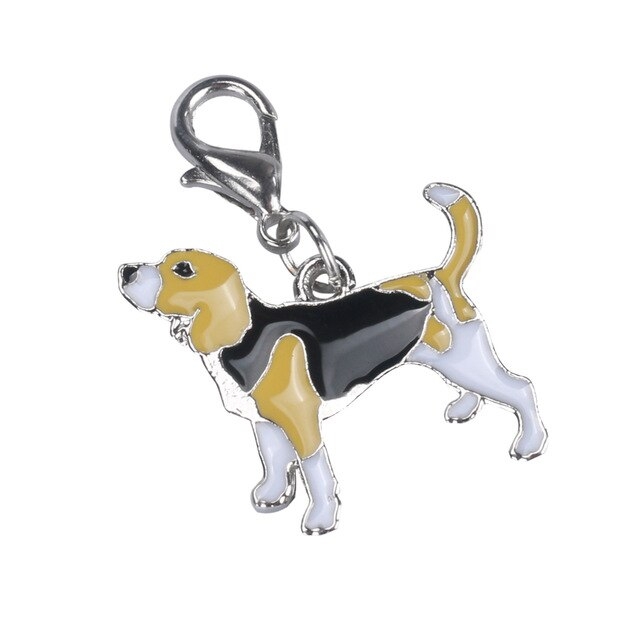 Beagle Baby Dog Keychain