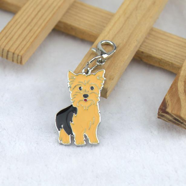 Yorkie Dog Tag Key Chain
