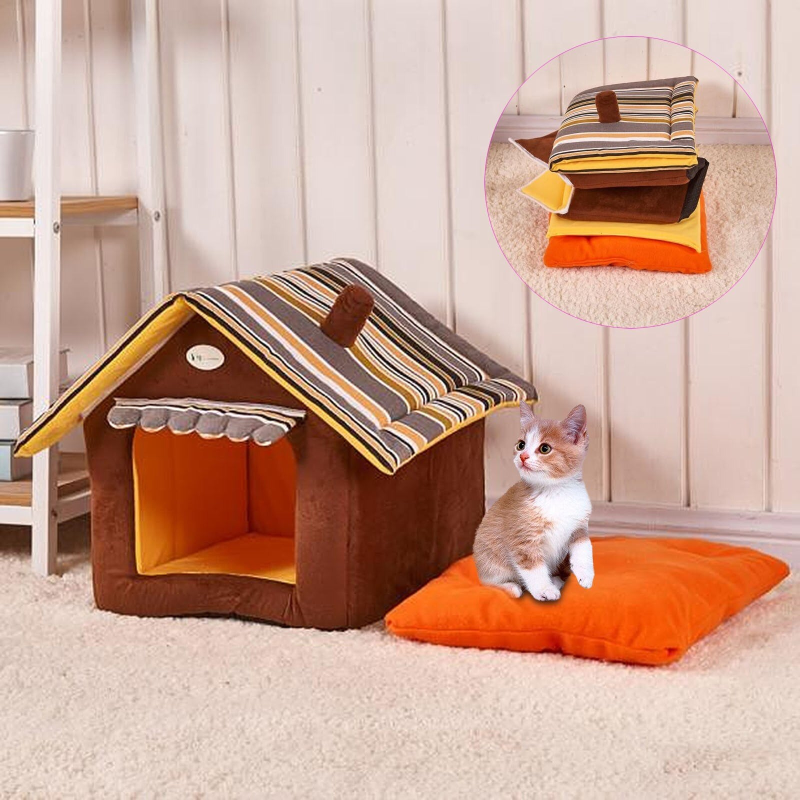 Comfortable Plush Kennel Cat House